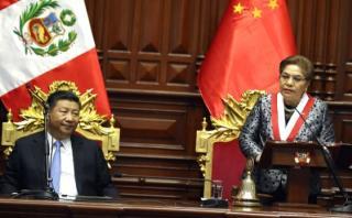 Luz Salgado mencionó a Fujimori en condecoración a Xi Jinping