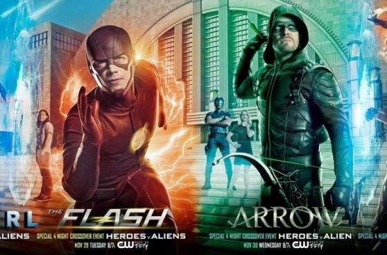 """Supergirl"": mira los pósters del crossover con ""The Flash"""