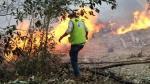 Gobierno declara en emergencia distritos por incendio forestal - Noticias de incendios forestales