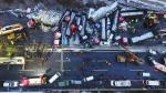 Choque de 56 vehículos deja 17 muertos en China - Noticias de lluvias intensas