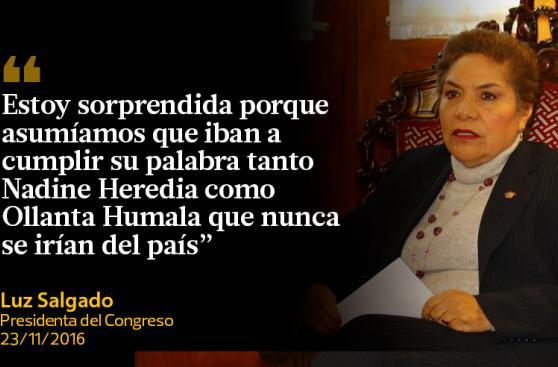 En frases: Las reacciones políticas al viaje de Nadine Heredia