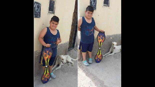 Facebook: Niño puso a venta su skate para ayudar a perro herido