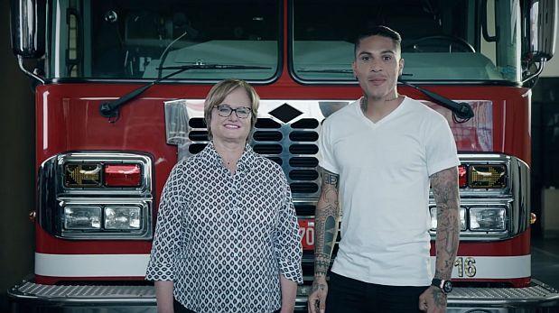 Paolo Guerrero y Nancy Lange unidos en campaña por los bomberos
