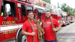 Baten récord jalando tres camiones de bomberos [VIDEO] - Noticias de andrew younghusband
