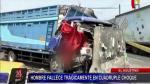 El Agustino: Una persona falleció en choque de camión - Noticias de tráfico vehicular