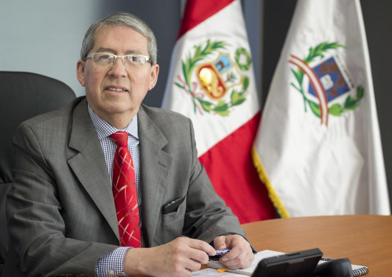 Alejandro Riveros fue designado hace tres años en el cargo de cónsul peruano en Chile.