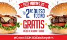 Bembos: regala segunda hamburguesa gratis este 29 de noviembre
