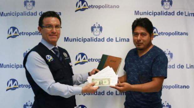 Metropolitano: usuario recuperó letras de cambio de US$65 mil
