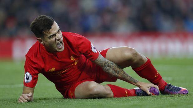 La escalofriante lesión de Coutinho en el Liverpool-Sunderland