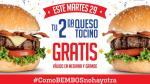 Bembos: regala segunda hamburguesa gratis este 29 de noviembre - Noticias de bembos