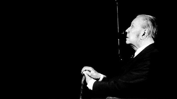 Jorge Luis Borges. Buenos Aires, 1978.  El primer retrato de escritor que captó Daniel Mordzinski.