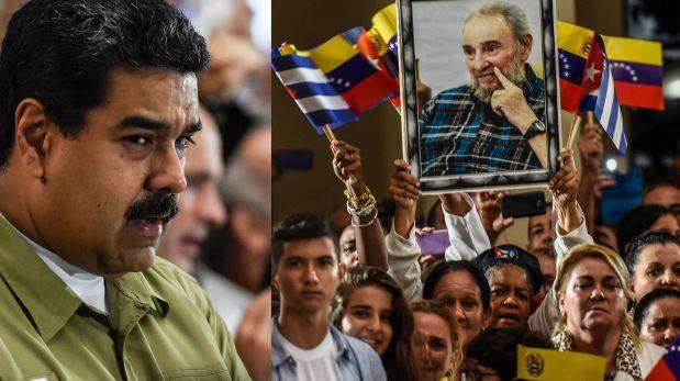 Maduro rindió homenaje a Castro frente a la tumba de Chávez