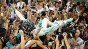 F1: Nico Rosberg y su loco festejo tras primer título mundial
