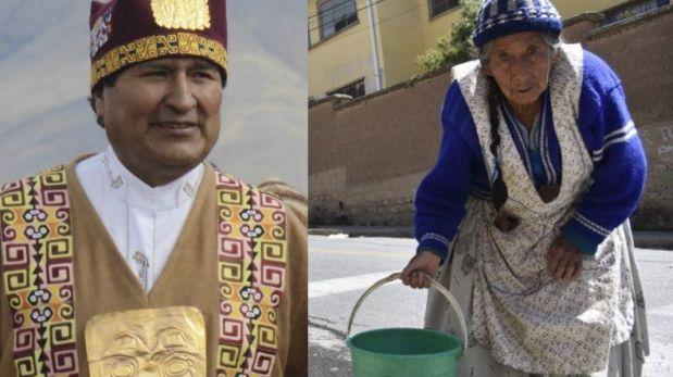 Evo hace rituales indígenas para pedir lluvias en Bolivia