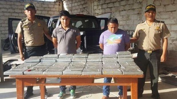 Tacna: caen dos sujetos con 65 kilos de droga