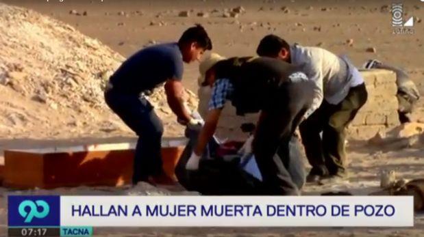 Tacna: Hallan cuerpo de mujer y de su presunto asesino en pozo