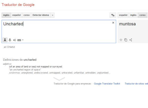 Google Traductor. (Foto: Captura)