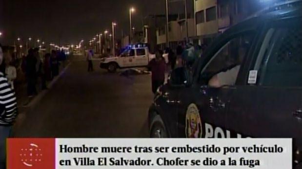 Villa El Salvador: hombre murió tras ser embestido por vehículo