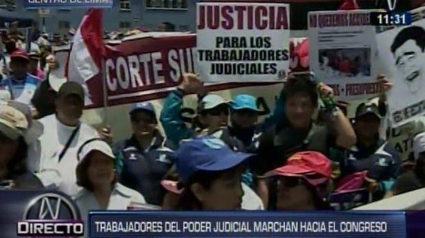 Centro de Lima: Protestas restringen tránsito vehicular