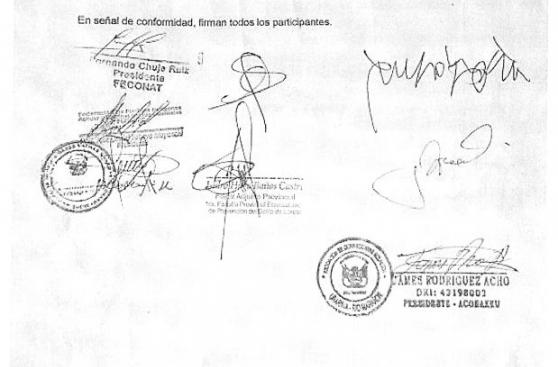 Cuestionan acta firmada durante el diálogo en Saramurillo