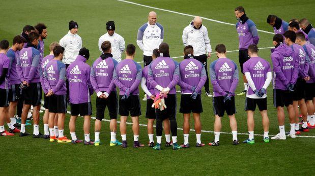 El gesto de Real Madrid y Barza en sus prácticas tras tragedia