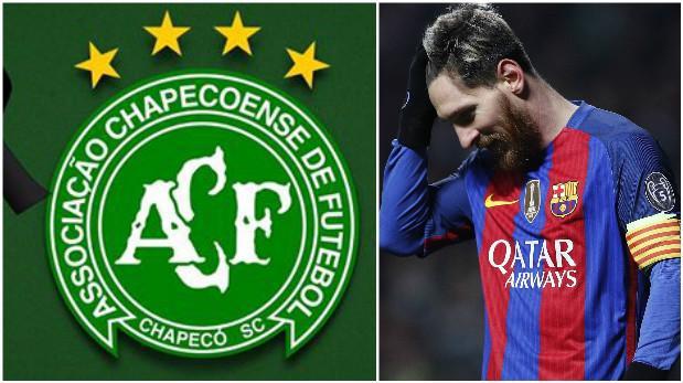 Lionel Messi expresó condolencias por tragedia del Chapecoense