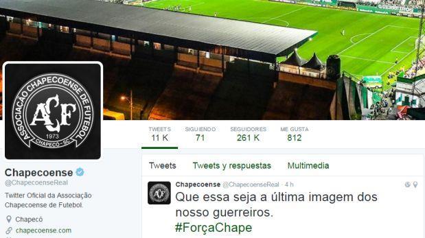 """ForçaChape"": el mundo se solidariza con Chapecoense en Twitter"