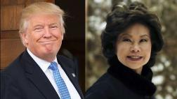 Donald Trump elige a Elaine Chao como secretaria de Transporte
