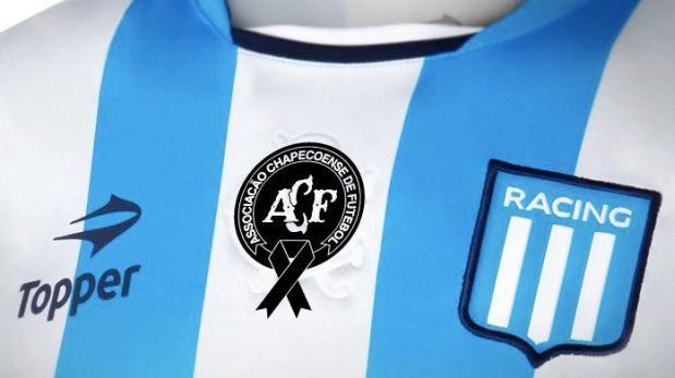 Racing Club usará escudo de Chapecoense ante Boca Juniors