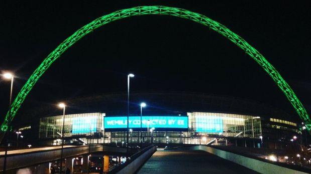 Chapecoense: Wembley se encendió con los colores del club