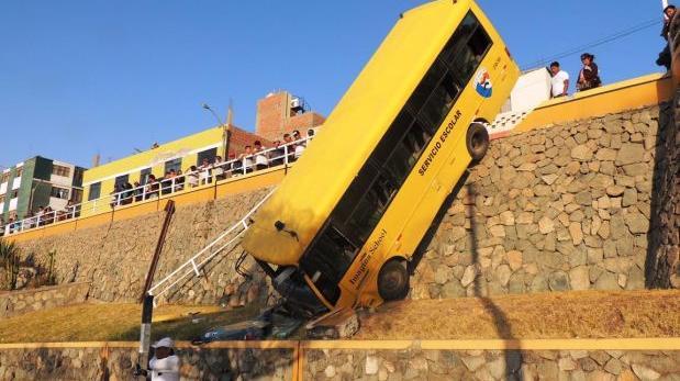 Aparatoso accidente de bus escolar dejó 13 alumnos heridos