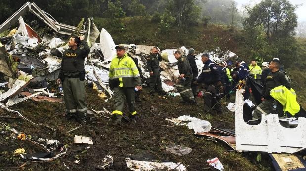Chapecoense: Lo que se sabe del accidente aéreo en Colombia