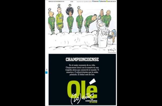 Chapecoense: las emotivas portadas de la prensa mundial