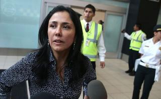 """Nadine Heredia volvió al Perú y cuestionó """"presión política"""""""