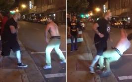 Retó a un corpulento peleador de MMA y terminó muy mal [VIDEO]