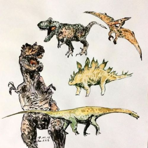 También dibuja dinosaurios para sus nietos. (Foto: Instagram de Chan Jae)