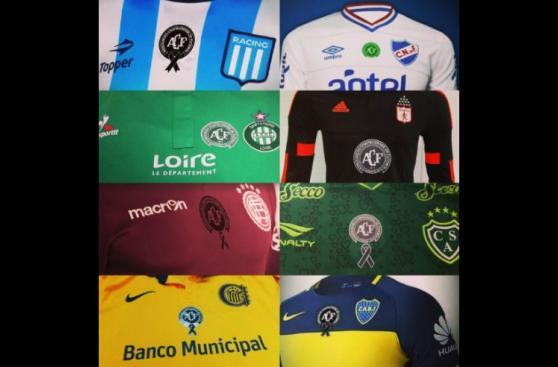 Chapecoense: clubes rendirán homenaje con escudo en camiseta