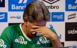 Chapecoense: técnico de Gremio lloró al recordar tragedia
