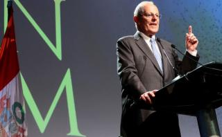 Durante su discurso, PPK también defendió el trabajo del ministro del Interior, Carlos Basombrío. (Foto: Presidencia)