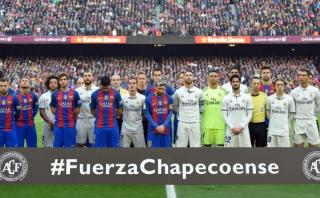 Barza-Real Madrid: emotivo minuto de silencio por Chapecoense