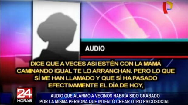 Huaycán: audio generó falsa alarma sobre traficantes de órganos