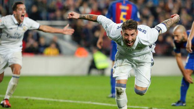 Sergio Ramos, el de los goles importantes del Real Madrid, decretó con este cabezazo el empate ante Barcelona en Camp Nou. (Video: ESPN)