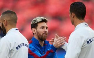 Encuentro entre Cristiano y Messi recordó a estas dos leyendas