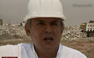 """Luis Castañeda Lossio defendió las obras de infraestructura vial de su gestión y admitió que le molesta que digan que """"solo le preocupa el cemento"""". Incluso, calificó de """"aberración"""" dicha afirmación. (Cuarto Poder)"""