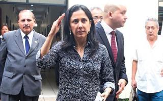 """La ex primera dama Nadine Heredia dijo que el ex presidente Alan García y la ex candidata presidencial Keiko Fujimori """"pasean por el mundo"""" siendo investigados. (Foto: Andina)"""