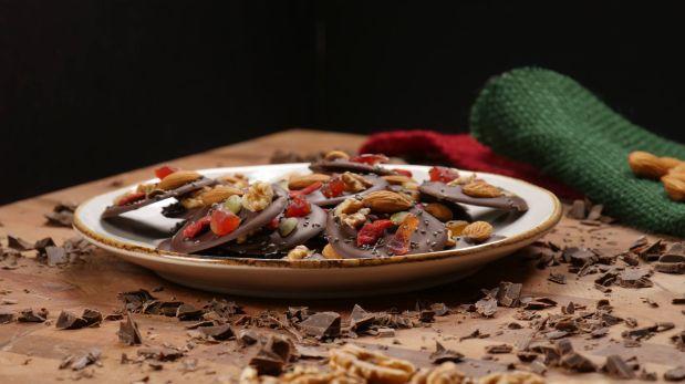 Facebook: un snack nutritivo con chocolate y frutos secos