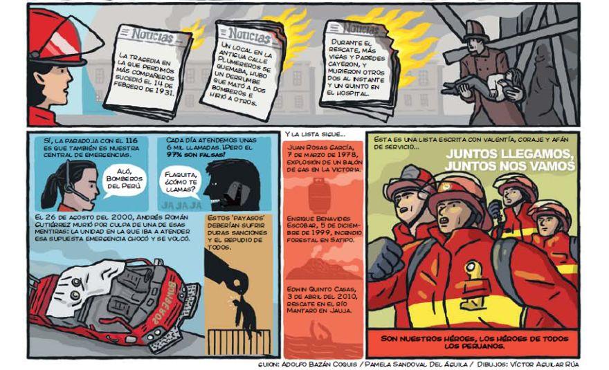 Para el 2016, se cuenta con 12 mil bomberos en el Perú, agrupados en 226 compañías que responden a 25 comandancias departamentales. (El Comercio)