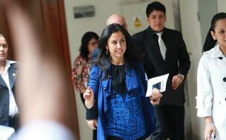 Nadine Heredia fue citada al Congreso para el 14 de diciembre