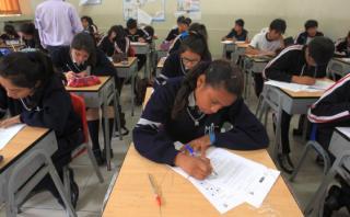 El Perú alcanzó su mejor puesto en esta edición de la prueba PISA en Matemáticas (61), superando a Brasil. (Foto: Consuelo Vargas / El Comercio)