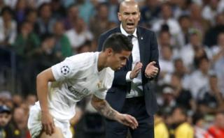 """Zinedine Zidane: """"Tengo el mismo trato con James que con todos"""""""